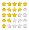 stars rating with 5 position feedback concept vector image