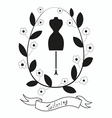 Tailoring emblem with mannequin or dummy vector image vector image