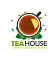 tea house logo company tea logo logo vector image vector image