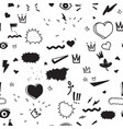 universal trend hand drawing seamless pattern vector image