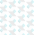 White embossed zigzags with green vector image vector image