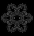 white tracery circle snowflake for holiday design vector image vector image