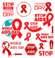 world aids day8 vector image