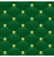 Vintage green leather pattern vector image