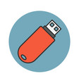 flash drive flat line icon vector image
