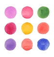 set of watercolor circles vector image