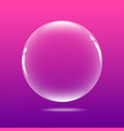 big bubble with pink color vector image