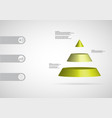 3d infographic template with triangle vector image vector image