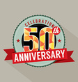 50 Years Anniversary Celebration Design vector image