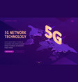 5g network technology isometric landing page vector image