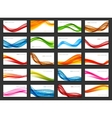 Abstract Colored Wave Card Set Background vector image vector image