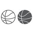 basketball ball line and glyph icon game and vector image