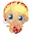 beautiful cute baby vector image vector image