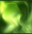 beautiful green satin drapery background vector image vector image