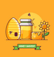 beekeeping and honey harvest background vector image