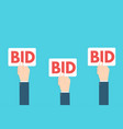 bid sign vector image vector image
