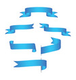 blue web ribbons with gradient mesh on white vector image vector image