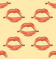 brush drawn various woman lips seamless vector image vector image