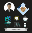 Business elements infographic with icons idea and vector image vector image