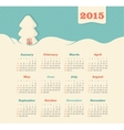 Calendar 2015 year with Christmas tree vector image
