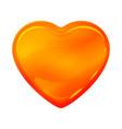 caramel syrup amber heart shape vector image vector image