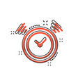 cartoon clock timer icon in comic style time vector image vector image