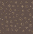 coffee brown seamless pattern vector image vector image