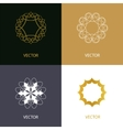 Collection of logo design templates and