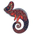 colorful ornate chameleon vector image vector image
