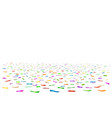 coloured ribbons confetti floor vector image vector image