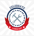 construction tools to celebrate labor day vector image vector image