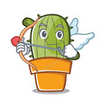 cupid cute cactus character cartoon vector image vector image