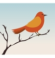 Cute ornamental bird icon