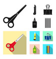 design of office and supply sign set of vector image vector image