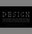 designer minimalistic font trendy english vector image vector image