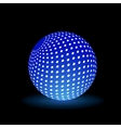 Digital Light Ball vector image vector image