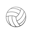 doodle leather volleyball ball vector image vector image