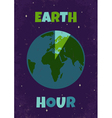 Earht hour vector image vector image