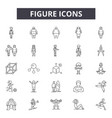 figure line icons signs set outline vector image vector image
