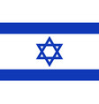 flag of israel in official rate and colors vector image