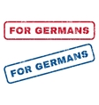 For Germans Rubber Stamps vector image vector image