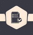 grunge document and check mark icon isolated on vector image vector image