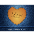 Happy Valentine Day Jeans Background vector image vector image