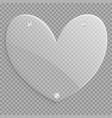 heart with a metallic gradient vector image