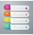 infographics four paper strips vector image