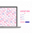 location concept with thin line icons vector image vector image