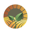 logotype agriculture logo with a field of vector image vector image