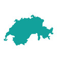 map of switzerland icon vector image vector image