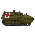 Military track ambulance vector image vector image