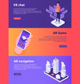 mobile augmented reality isometric virtual ar vector image vector image